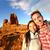selfie   happy couple taking self portrait hiking stock photo © maridav