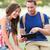 twee · studenten · met · behulp · van · laptop · campus · vrouw · vrienden - stockfoto © maridav