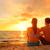 ロマンチックな · カップル · 愛 · 日没 · ビーチ - ストックフォト © maridav