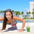 healthy lifestyle girl exercise and green smoothie stock photo © maridav