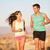 runners   active fitness couple running laughing stock photo © maridav