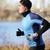 runner · uomo · esecuzione · frequenza · cardiaca · monitor · spiaggia - foto d'archivio © maridav