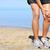 running injury   man jogging with knee pain stock photo © maridav