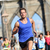 running athlete training on brooklyn bridge nyc stock photo © maridav