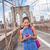 sms · telefone · menina · verão · Nova · Iorque - foto stock © maridav