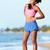 サイド · ステッチ · 胃 · 痛み · 女性 · ランナー - ストックフォト © maridav