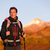 wandelaar · man · trekking · portret · hoog · berg - stockfoto © maridav