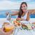çift · sevmek · içmek · portakal · suyu · yaz · piknik - stok fotoğraf © maridav