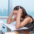 stressed business woman stressing of office work stock photo © maridav