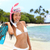 beach vacation snorkel woman with mask and fins stock photo © maridav