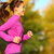 woman running in autumn fall forest stock photo © maridav