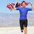 runner athlete man with the american flag   usa stock photo © maridav