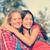 nő · fiatal · lány · átkarol · kint · mosolygó · nő · mosolyog - stock fotó © maridav
