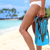 beach vacation legs woman with snorkel flippers stock photo © maridav