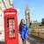 Londra · insanlar · kadın · kırmızı · telefon · kabin - stok fotoğraf © maridav