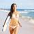 szörfözik · szörfös · nő · tengerpart · jókedv - stock fotó © maridav