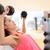 フィットネス · ジム · 女性 · 筋力トレーニング · 重み · 行使 - ストックフォト © maridav