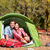 people camping in tent   happy backpacking couple stock photo © maridav