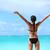 mulher · natação · abrir · mar · água · esportes - foto stock © maridav