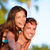 gelukkig · paar · mooie · vriendin · glimlachend · vrouw - stockfoto © maridav