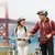 biking golden gate bridge   couple sightseeing stock photo © maridav