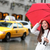 new york city manhattan woman with fall umbrella stock photo © maridav