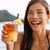 drinken · cocktail · witte · verticaal · glas · ijs - stockfoto © maridav
