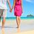 de · mãos · dadas · romântico · recém-casados · casal · praia - foto stock © maridav