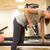 женщину · гантели · спортзал · счастливым · тело - Сток-фото © maridav