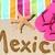 México · playa · viaje · escrito · arena · agua - foto stock © Maridav