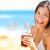 beach woman drinking cold drink beverage stock photo © maridav