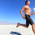Athlete running sport - fitness runner in desert stock photo © Maridav