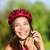 női · motoros · visel · bicikli · sisak · portré - stock fotó © maridav