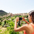 tourist taking picture of deia village in mallorca stock photo © maridav