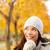 осень · женщину · мышления · глядя · желтый - Сток-фото © Maridav