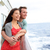 Cruise ship couple romantic enjoying travel stock photo © Maridav