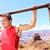 férfi · húzás · fiatal · sportos · sportruha · felfelé - stock fotó © maridav
