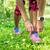 chaussures · de · course · femme · coureur · chaussures · dentelle · courir - photo stock © maridav