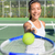 tennis player   woman showing ball and racket stock photo © maridav