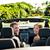 happy couple in car on summer road trip travel stock photo © maridav