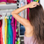 indecision woman choosing outfit in clothes closet stock photo © maridav