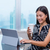 empresária · datilografia · laptop · quarto · de · hotel · viagem · de · negócios · pessoas - foto stock © maridav