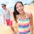 beach people   young couple holding hands walking stock photo © maridav