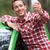 elektrische · auto · bestuurder · groene · energie · mannelijke · achter - stockfoto © maridav