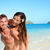 beach couple vacation fun   happy piggyback stock photo © maridav