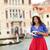 mujer · viaje · turísticos · cámara · mapa · Venecia - foto stock © maridav