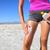 protetor · solar · esportes · mulher · sol · loção - foto stock © Maridav