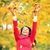 autumn fall woman happy throwing leaves stock photo © maridav