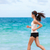 fitness athlete training cardio running on beach stock photo © maridav