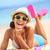 beach woman laughing fun in summer stock photo © maridav